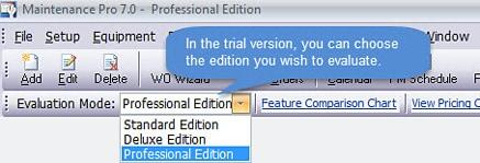 Maintenance Pro Evaluation Version