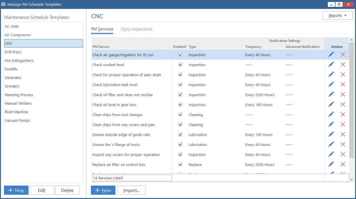 Maintenance Pro CMMS software - equipment management